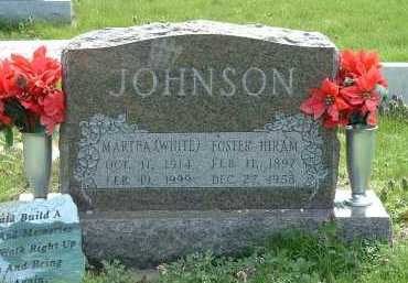 JOHNSON, MARTHA (WHITE) - Ross County, Ohio | MARTHA (WHITE) JOHNSON - Ohio Gravestone Photos