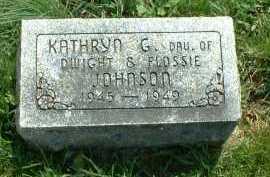 JOHNSON, KATHRYN G. - Ross County, Ohio | KATHRYN G. JOHNSON - Ohio Gravestone Photos