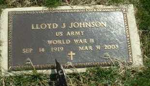 JOHNSON, LLOYD J. - Ross County, Ohio | LLOYD J. JOHNSON - Ohio Gravestone Photos