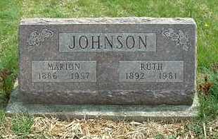 JOHNSON, MARION - Ross County, Ohio   MARION JOHNSON - Ohio Gravestone Photos