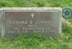 JOHNSON, RICHARD E. - Ross County, Ohio | RICHARD E. JOHNSON - Ohio Gravestone Photos