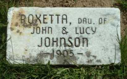 JOHNSON, ROXETTA - Ross County, Ohio | ROXETTA JOHNSON - Ohio Gravestone Photos