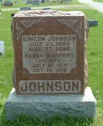 WIPERT JOHNSON, SARAH B. - Ross County, Ohio | SARAH B. WIPERT JOHNSON - Ohio Gravestone Photos