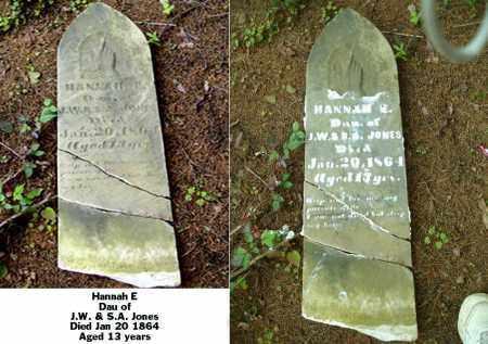 JONES, HANNAH E - Ross County, Ohio | HANNAH E JONES - Ohio Gravestone Photos