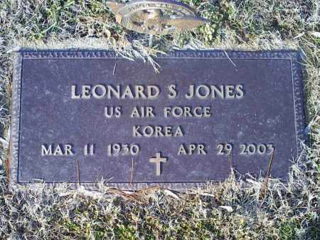 JONES, LEONARD S. - Ross County, Ohio | LEONARD S. JONES - Ohio Gravestone Photos