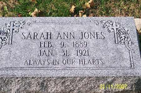 JONES, SARAH ANN - Ross County, Ohio   SARAH ANN JONES - Ohio Gravestone Photos