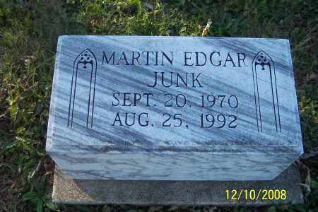 JUNK, MARTIN EDGAR - Ross County, Ohio   MARTIN EDGAR JUNK - Ohio Gravestone Photos