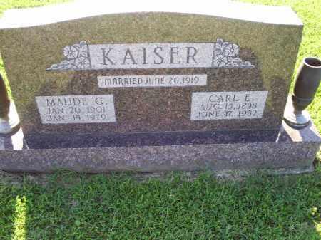 KAISER, CARL E. - Ross County, Ohio | CARL E. KAISER - Ohio Gravestone Photos