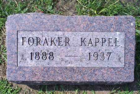 KAPPEL, FORAKER - Ross County, Ohio   FORAKER KAPPEL - Ohio Gravestone Photos