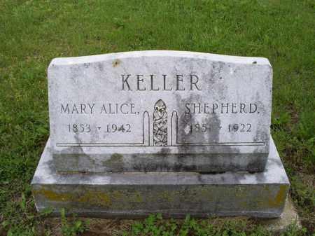 KELLER, MARY ALICE - Ross County, Ohio | MARY ALICE KELLER - Ohio Gravestone Photos