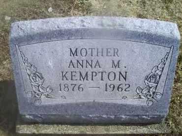 KEMPTON, ANNA M. - Ross County, Ohio | ANNA M. KEMPTON - Ohio Gravestone Photos
