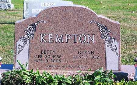 KEMPTON, BETTY - Ross County, Ohio | BETTY KEMPTON - Ohio Gravestone Photos
