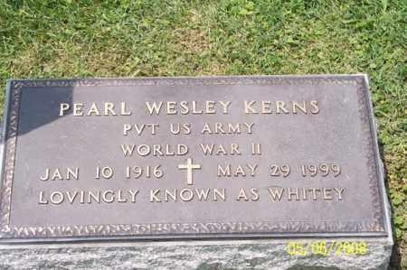 KERNS, PEARL WESLEY - Ross County, Ohio   PEARL WESLEY KERNS - Ohio Gravestone Photos
