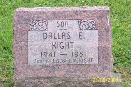 KIGHT, DALLAS E. - Ross County, Ohio | DALLAS E. KIGHT - Ohio Gravestone Photos