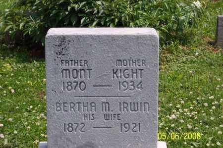 IRWIN KIGHT, BERTHA M. - Ross County, Ohio | BERTHA M. IRWIN KIGHT - Ohio Gravestone Photos