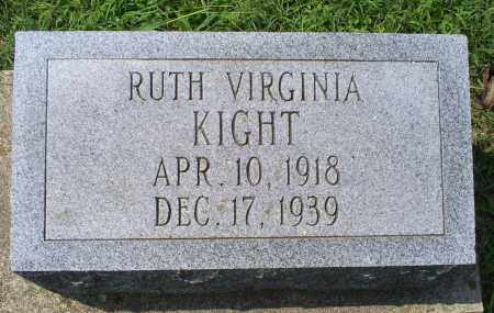 KIGHT, RUTH VIRGINIA - Ross County, Ohio | RUTH VIRGINIA KIGHT - Ohio Gravestone Photos
