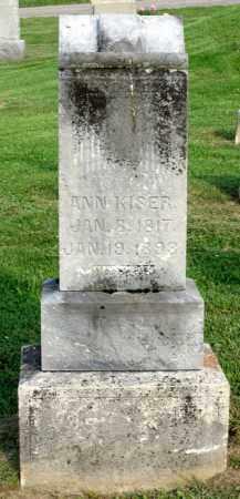 KISER, ANN - Ross County, Ohio | ANN KISER - Ohio Gravestone Photos