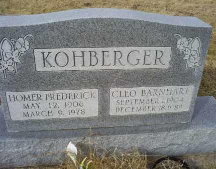 KOHBERGER, HOMER FREDERICK - Ross County, Ohio | HOMER FREDERICK KOHBERGER - Ohio Gravestone Photos