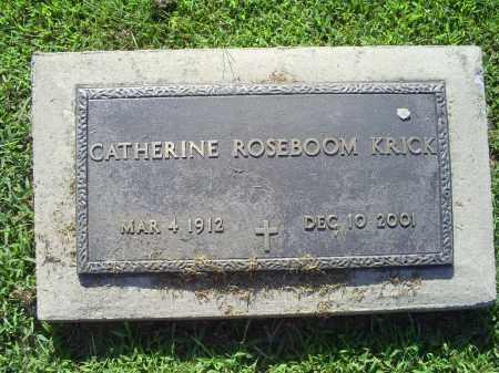 KRICK, CATHERINE - Ross County, Ohio | CATHERINE KRICK - Ohio Gravestone Photos