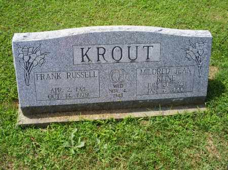 KLINE KROUT, MILDRED JEAN - Ross County, Ohio | MILDRED JEAN KLINE KROUT - Ohio Gravestone Photos