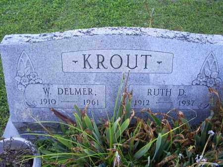 KROUT, RUTH D. - Ross County, Ohio | RUTH D. KROUT - Ohio Gravestone Photos