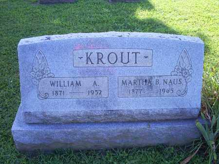 KROUT, MARTHA B. - Ross County, Ohio | MARTHA B. KROUT - Ohio Gravestone Photos