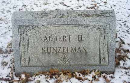 KUNZELMAN, ALBERT H. - Ross County, Ohio   ALBERT H. KUNZELMAN - Ohio Gravestone Photos