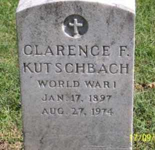 KUTSCHBACH, CLARENCE F. - Ross County, Ohio | CLARENCE F. KUTSCHBACH - Ohio Gravestone Photos
