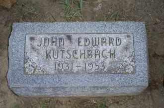 KUTSCHBACH, JOHN EDWARD - Ross County, Ohio | JOHN EDWARD KUTSCHBACH - Ohio Gravestone Photos