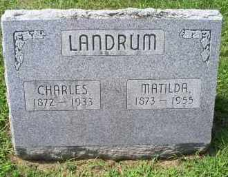 LANDRUM, CHARLES - Ross County, Ohio | CHARLES LANDRUM - Ohio Gravestone Photos