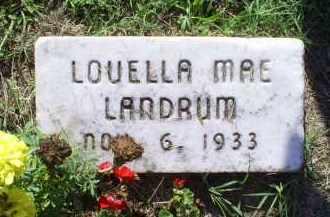 LANDRUM, LOUELLA MAE - Ross County, Ohio | LOUELLA MAE LANDRUM - Ohio Gravestone Photos