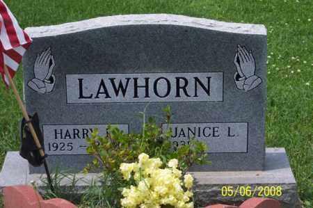LAWHORN, HARRY D. - Ross County, Ohio | HARRY D. LAWHORN - Ohio Gravestone Photos