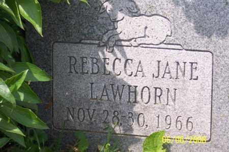 LAWHORN, REBECCA JANE - Ross County, Ohio | REBECCA JANE LAWHORN - Ohio Gravestone Photos