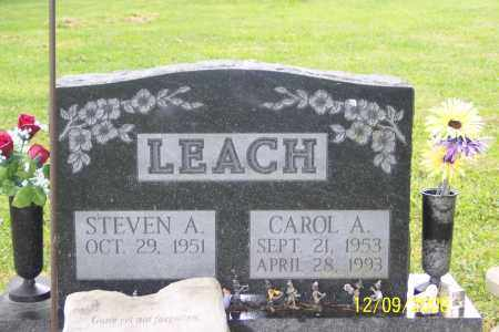 LEACH, CAROL A. - Ross County, Ohio   CAROL A. LEACH - Ohio Gravestone Photos