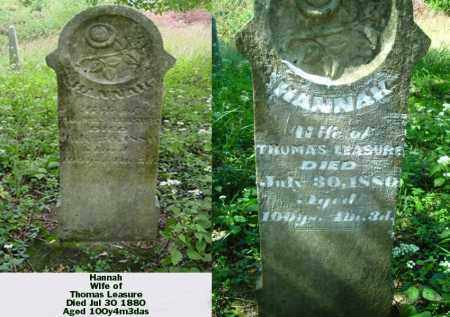 LEASURE, HANNAH - Ross County, Ohio | HANNAH LEASURE - Ohio Gravestone Photos