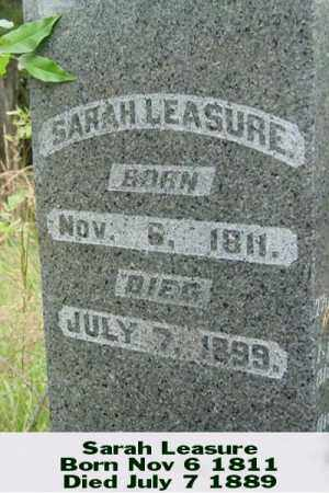 LEASURE, SARAH - Ross County, Ohio   SARAH LEASURE - Ohio Gravestone Photos