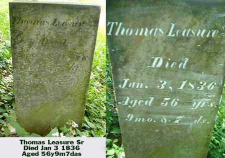 LEASURE, THOMAS SEN. - Ross County, Ohio | THOMAS SEN. LEASURE - Ohio Gravestone Photos