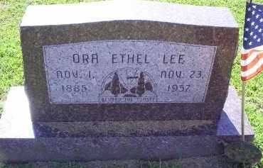 LEE, ORA ETHEL - Ross County, Ohio   ORA ETHEL LEE - Ohio Gravestone Photos
