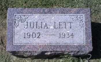 LETT, JULIA - Ross County, Ohio | JULIA LETT - Ohio Gravestone Photos