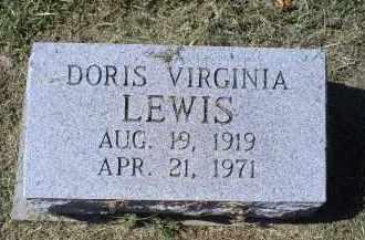LEWIS, DORIS VIRGINIA - Ross County, Ohio | DORIS VIRGINIA LEWIS - Ohio Gravestone Photos