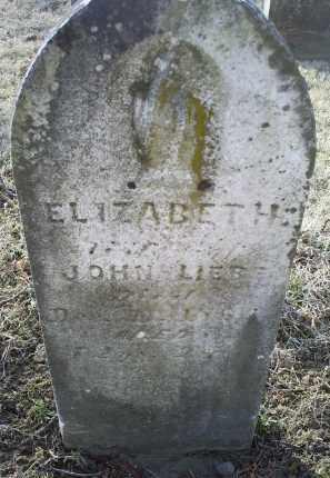 LIEBE, ELIZABETH - Ross County, Ohio | ELIZABETH LIEBE - Ohio Gravestone Photos