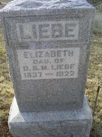 LIEBE, ELIZABETH - Ross County, Ohio   ELIZABETH LIEBE - Ohio Gravestone Photos