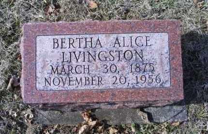 LIVINGSTON, BERTHA ALICE - Ross County, Ohio | BERTHA ALICE LIVINGSTON - Ohio Gravestone Photos