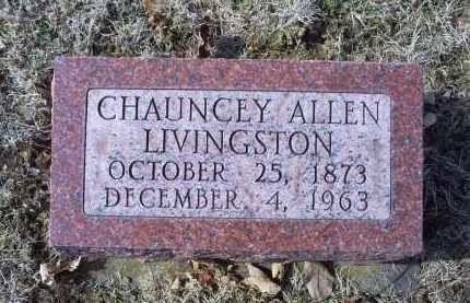 LIVINGSTON, CHAUNCEY ALLEN - Ross County, Ohio | CHAUNCEY ALLEN LIVINGSTON - Ohio Gravestone Photos