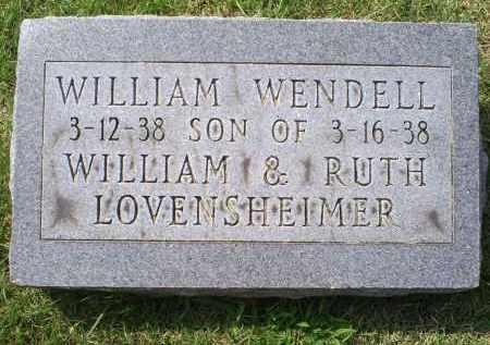 LOVENSHEIMER, WILLIAM WENDALL - Ross County, Ohio | WILLIAM WENDALL LOVENSHEIMER - Ohio Gravestone Photos