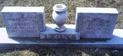 LYONS, EDWARD - Ross County, Ohio | EDWARD LYONS - Ohio Gravestone Photos
