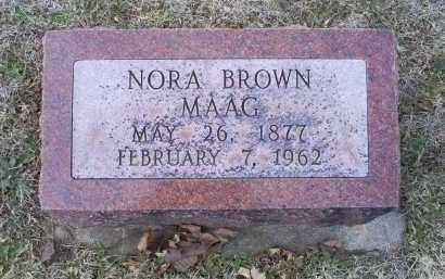 BROWN MAAG, NORA - Ross County, Ohio | NORA BROWN MAAG - Ohio Gravestone Photos