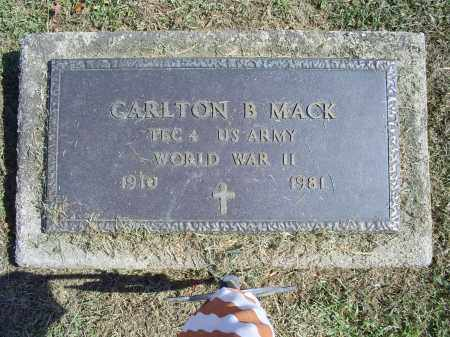 MACK, CARLTON B. - Ross County, Ohio | CARLTON B. MACK - Ohio Gravestone Photos