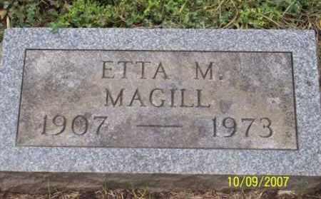 MAGILL, ETTA M. - Ross County, Ohio   ETTA M. MAGILL - Ohio Gravestone Photos