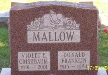 MALLOW, VIOLET E. - Ross County, Ohio | VIOLET E. MALLOW - Ohio Gravestone Photos